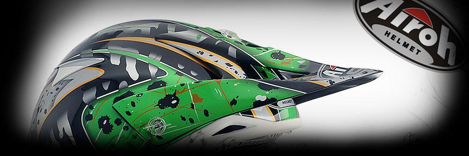 Тийм Грийн - мотоциклети, екипировка и сервиз - AIROH отворени каски - AIROH