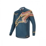 ALPINESTARS Блуза RACER BRAAP JERSEY NAVY ORANGE ALPINESTARS