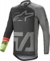 ALPINESTARS RACER COMPASS JERSEY BLACK DARK GRAY GREEN ALPINESTARS