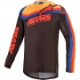 ALPINESTARS TECHSTAR VENOM JERSEY BLACK BR RED ORANGE ALPINESTARS