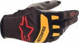 ALPINESTARS TECHSTAR GLOVES BLACK/ORANGE ALPINESTARS