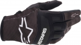 ALPINESTARS TECHSTAR GLOVES BLACK/WHITE ALPINESTARS